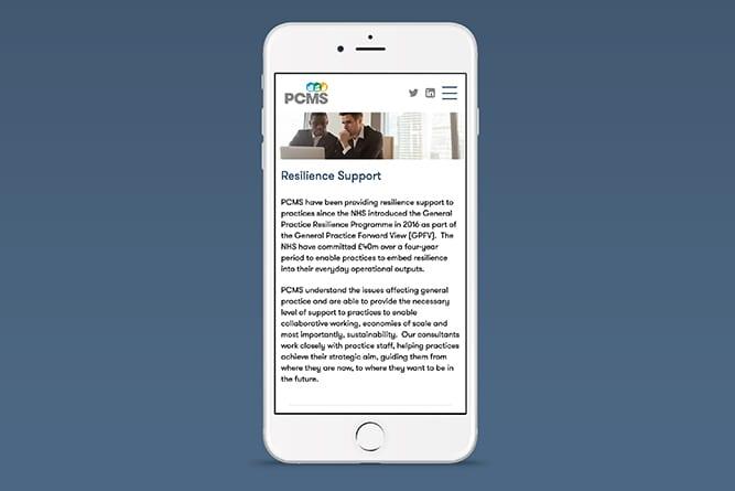 PCMS Mobile design