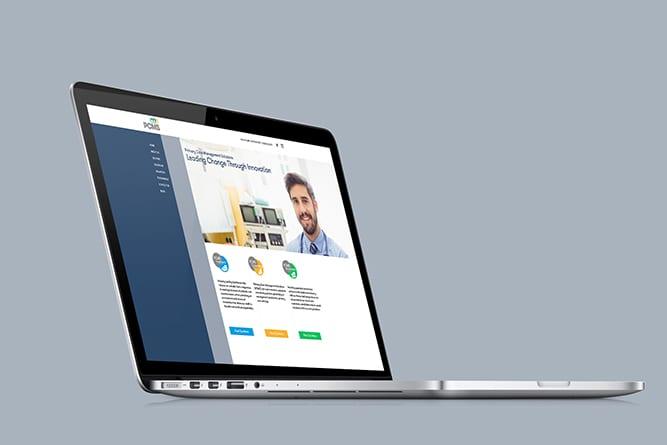 PCMS Website laptop