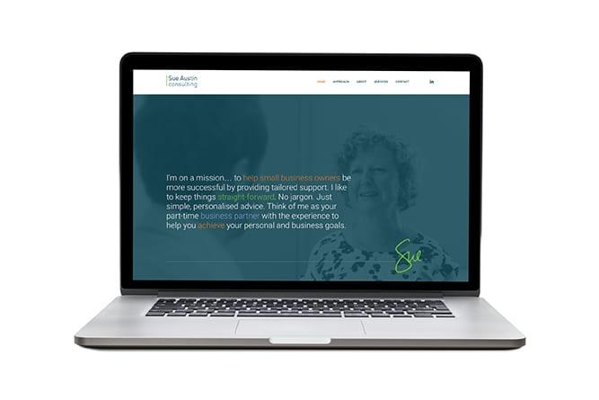 Sue Austin Consulting Website on mac