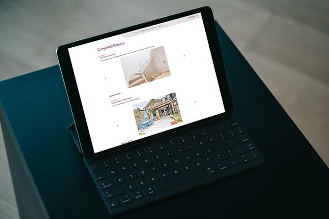 Soho Grey Tablet website design