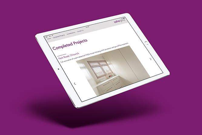 Soho Grey Website on Tablet