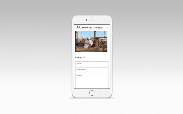 Avicenna Medical Recruitment website on mobile