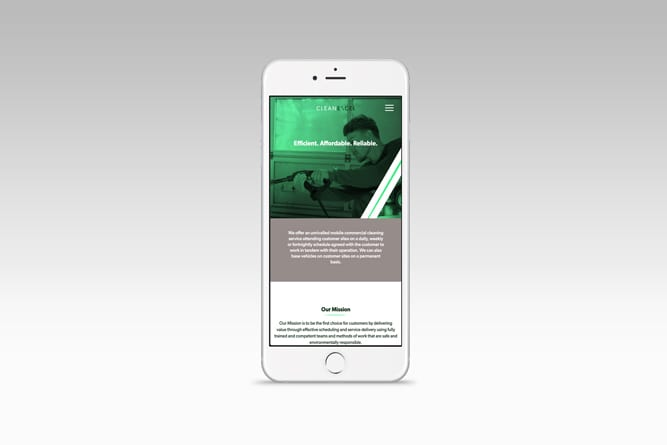 Clean Excel Website on Iphone