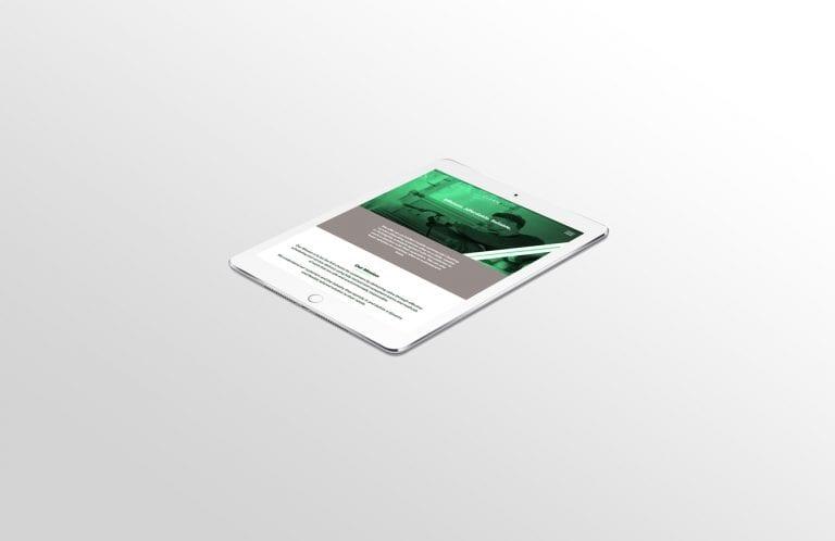Clean Excel Website on Tablet