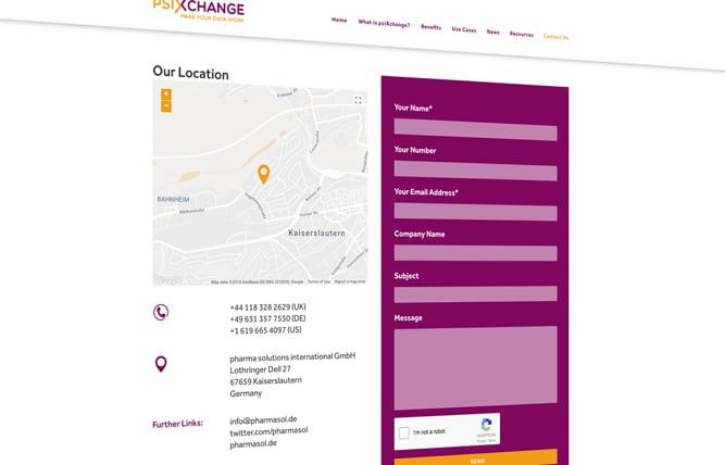 psiXchange webpage