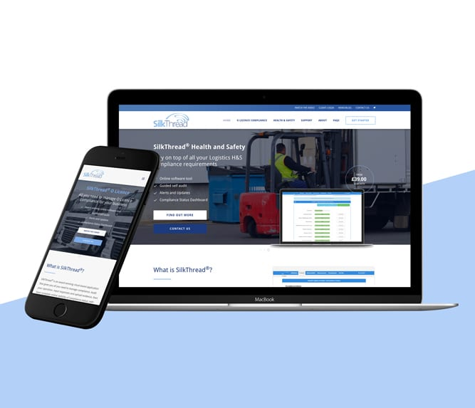 SilkThread website on computer and mobile