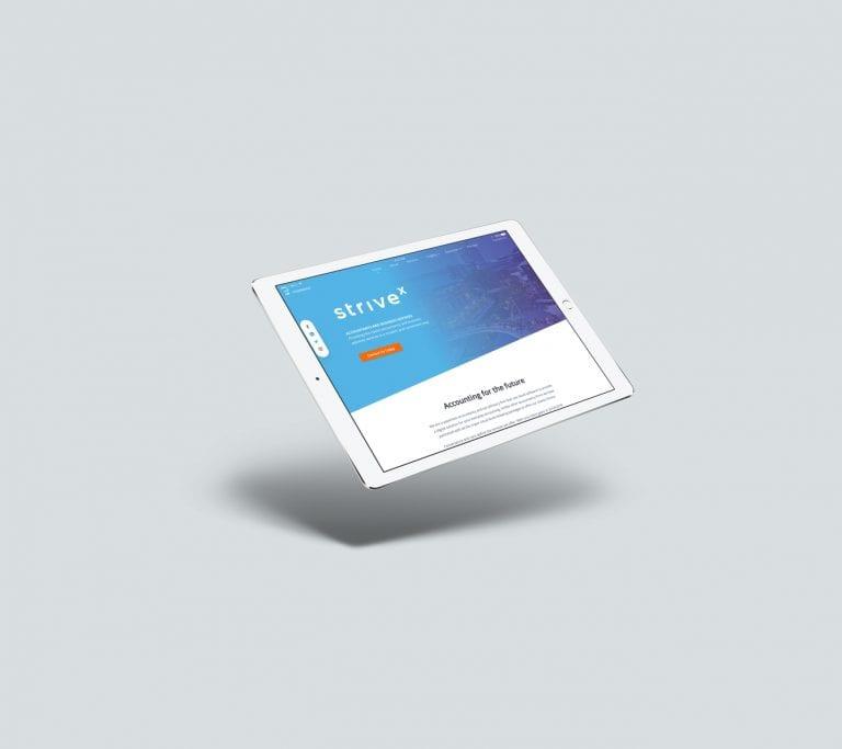 strivex tablet website design