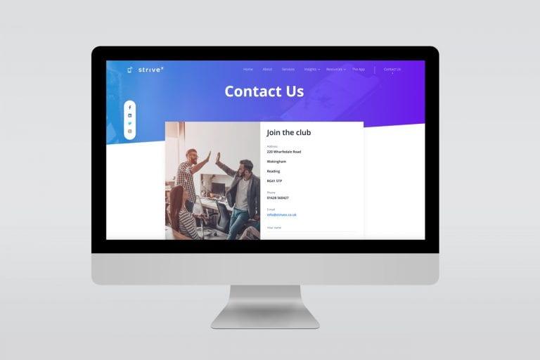 Strivex website design mac