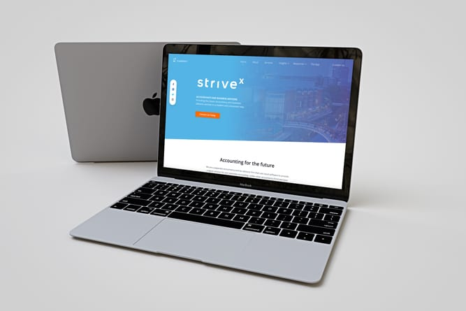Strivex Website design laptop