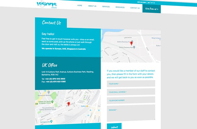 Visions Group website