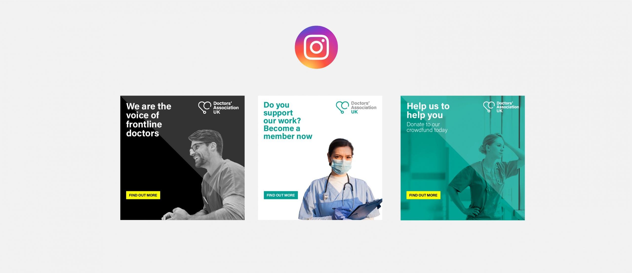 Doctors' Association UK Instagram posts