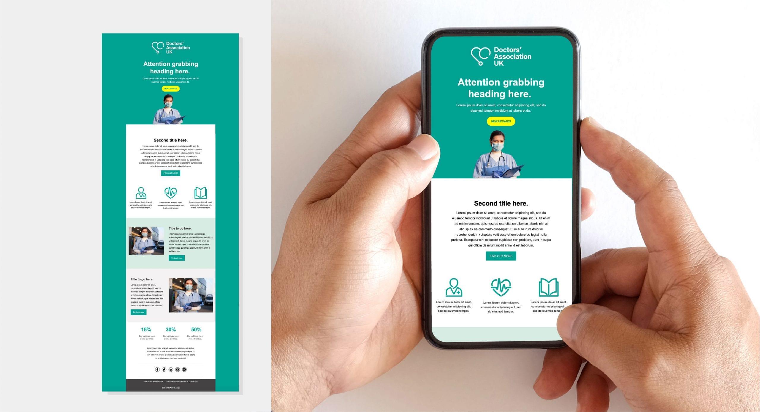 Doctors' Association UK Mobile Website design