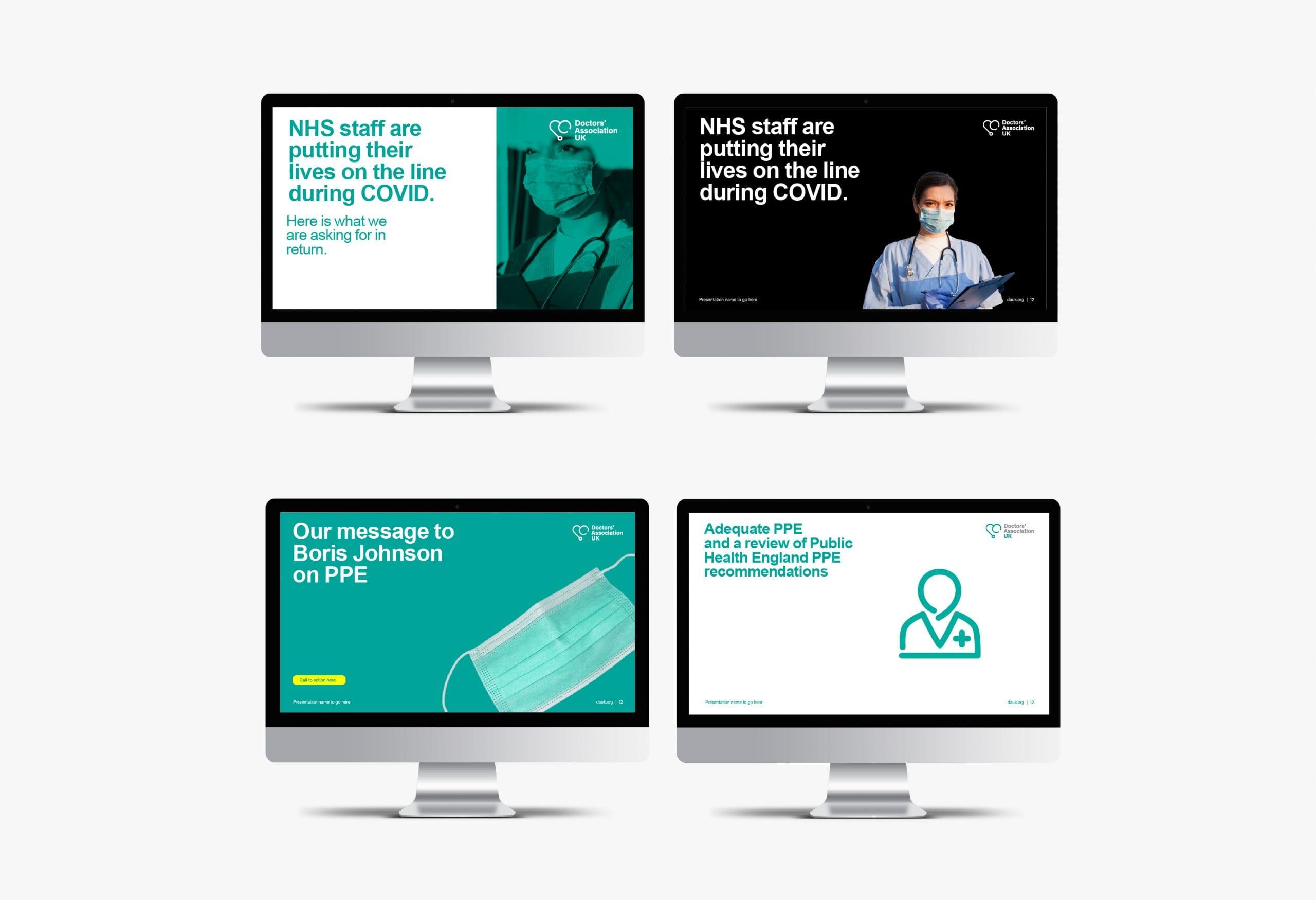 Doctors' Association UK Computer screens