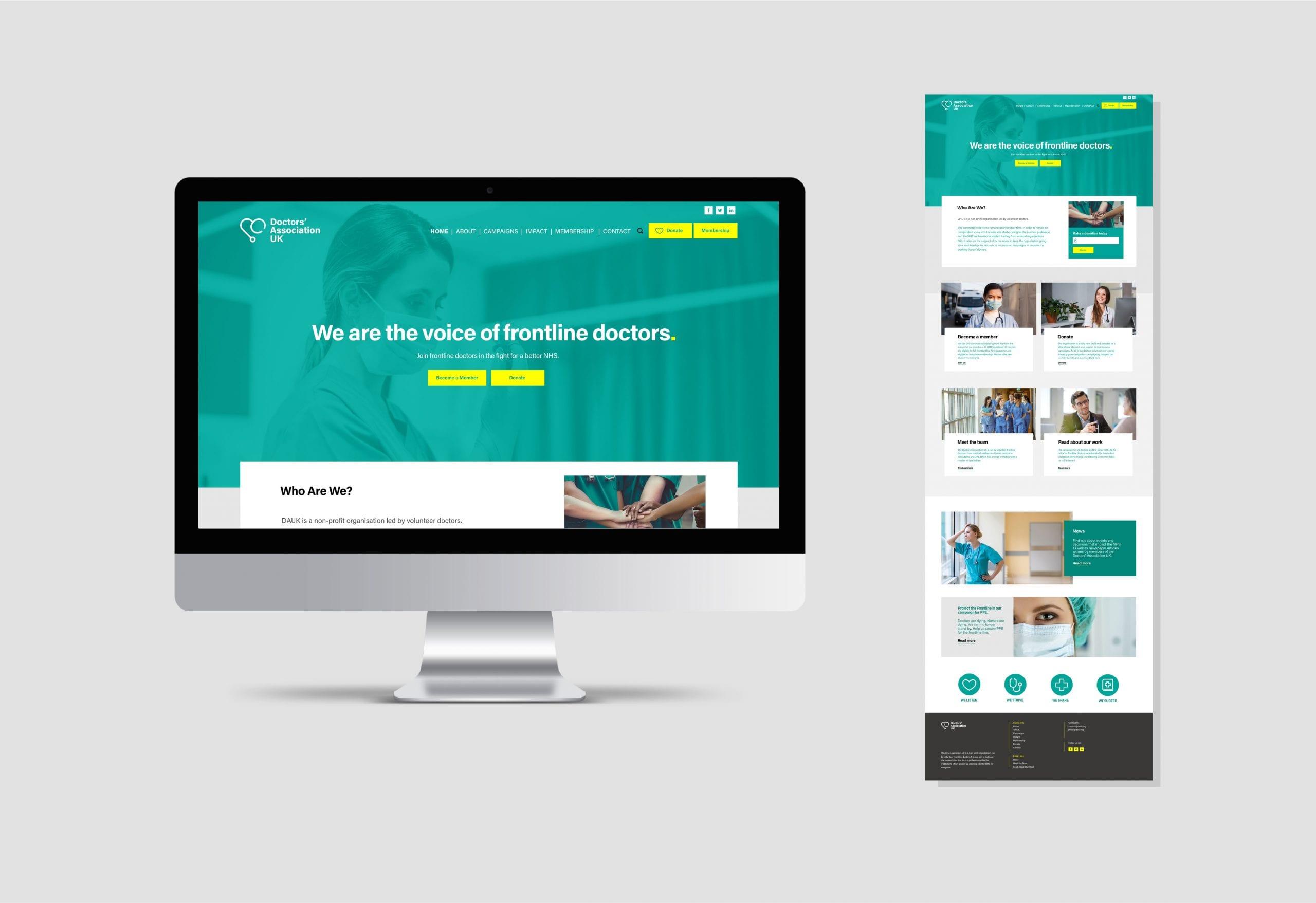 Doctors' Association UK Website design